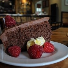 Coffee & Chocolate Cake at the Clubhouse Cafe