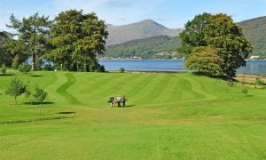The view across the 3rd hole at Dragons Tooth Golf Course