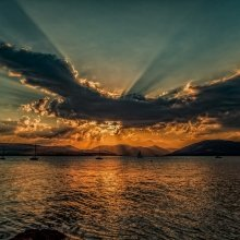 Romantic Sunset on the West Coast of Scotland